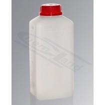 butelka czworokątna HDPE 1000ml GL45 nakrętka samoplombująca UN transparentna