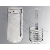 puszka do sterylizacji szalek Petriego 260x120mm