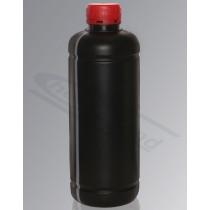 butelka HDPE 1000ml fi 38 nakrętka samoplombująca UNY czarna z paskiem