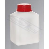 butelka czworokątna HDPE 0500ml GL45 nakrętka samoplombująca mleczna