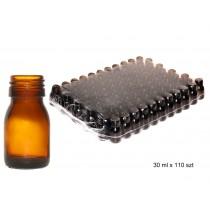butelka szklana farmaceutyczna oranż 0030ml bez nakrętki op.zbior.110 szt cena dot.szt