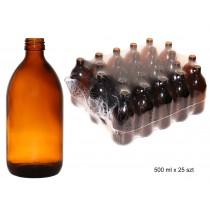 butelka szklana farmaceutyczna oranż 0500ml bez nakrętki op.zbior. 25 szt cena dot.szt