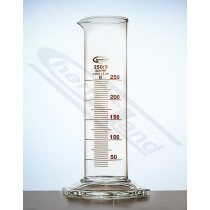 cylinder NISKI 0250ml Kl.B stopa szklana sześciokątna sk.brąz