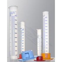 cylinder PP 0050ml skala niebieska ze zdejmowaną podstawą