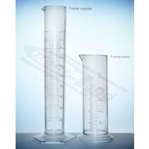 cylinder SAN kl.B skala tłoczona WYSOKI 0100ml:01ml