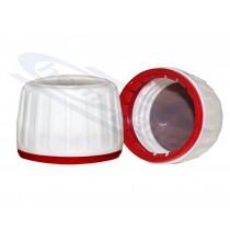 nakrętka do butelki farmaceut.z pierścieniem samoplombującym czerwonym uszczelka EPE200 plus 1xPTFE