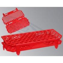 statyw na probówki Ependorffa PP czerwony 100 miejsc 1,5ml