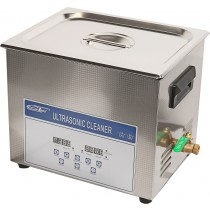 ultrasonic cleaner with heating, 10L, timer 0-30min, temp. RT-80oC, display LCD, frequency 40KHz, ultrasonic power 240W