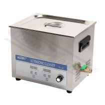 ultrasonic cleaner with heating, 15L, ultrasonic power 144~360W, timer 0-30min, temp. 20-80oC