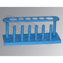 stand, PP, with pegs, for test tubes diam. 16 and diam. 25